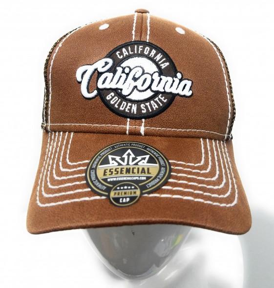 California Brown Oilskin Mesh Hat