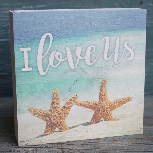 I Love Us - Starfish Chunky Sign
