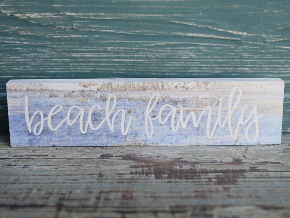 Beach Family Candy Bar sign