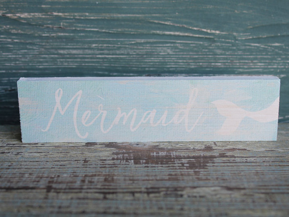 Mermaid Small Wood Sign