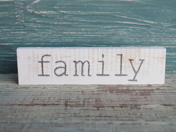 Family small wood sign