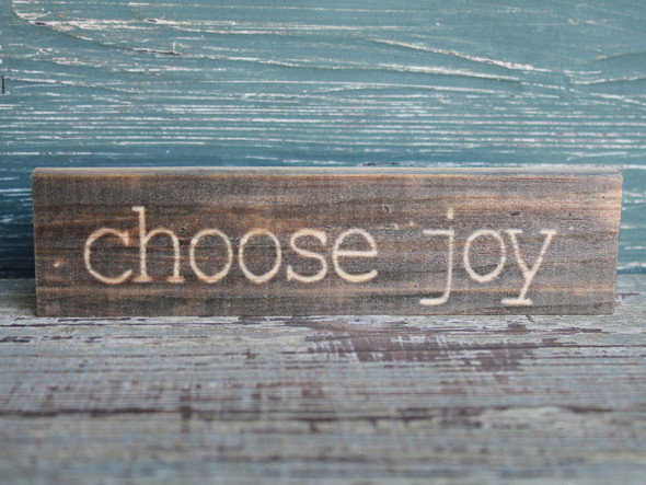 Choose Joy small wood sign