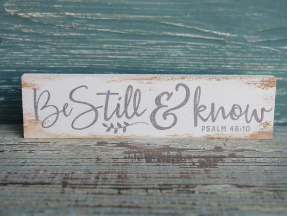 Be Still & Know small wood sign