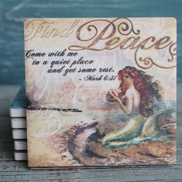 Mermaid Thoughts Coaster Set
