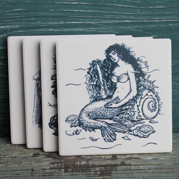 Mermaid Coasters - 4 Assorted