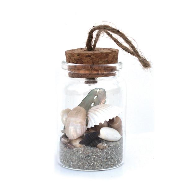 Natural Sand & Shells Bottle Ornament