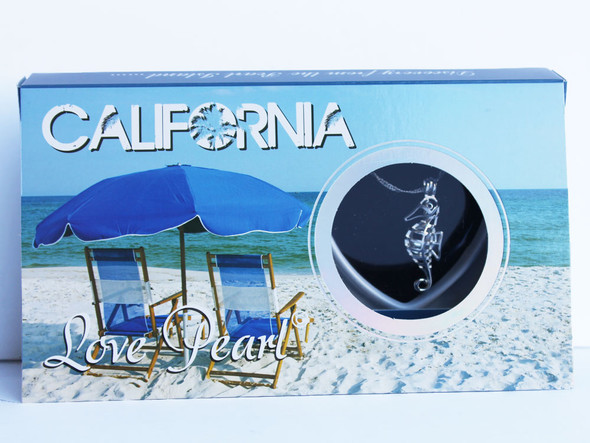 California Seahorse Love Pearl Necklace