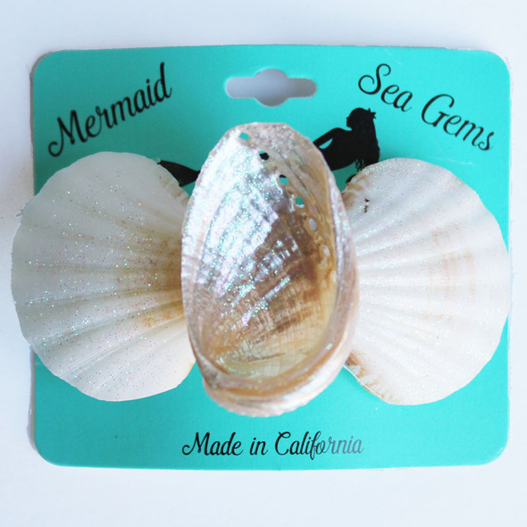 Pearl Abalone Hair Clip - Mermaid Sea Gem