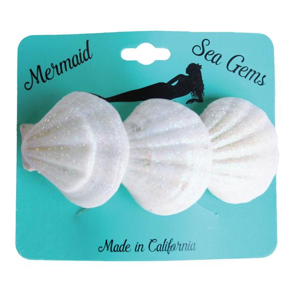 Triple Pectin Shell Hair Clip - Mermaid Sea Gem