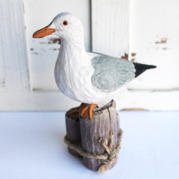 Wood Like Seagull Figure