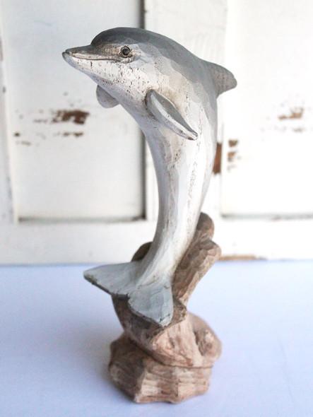 Wood Like Dolphin Figure