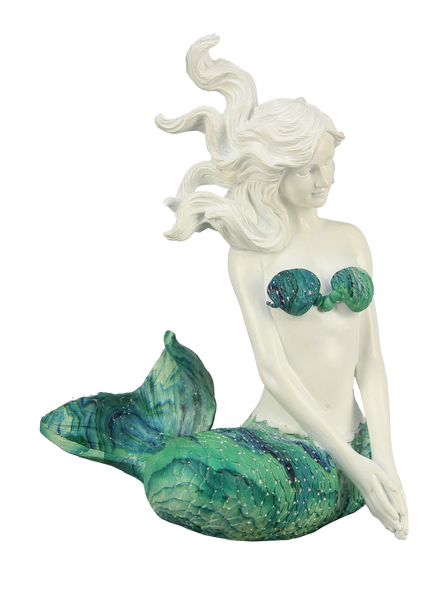 Sitting Mermaid with Swirl Tail
