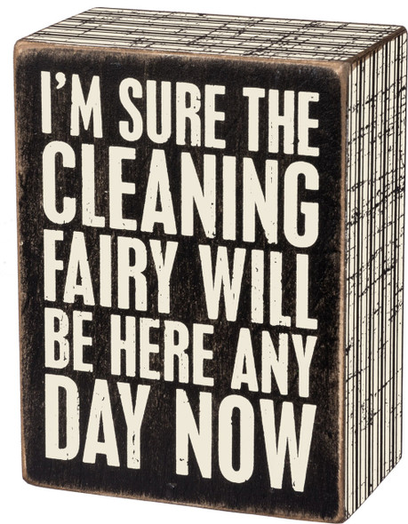 I'm sure the cleaning fairy will be here any day now.