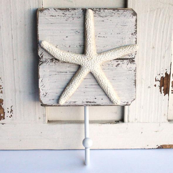 White Starfish Wall Hook