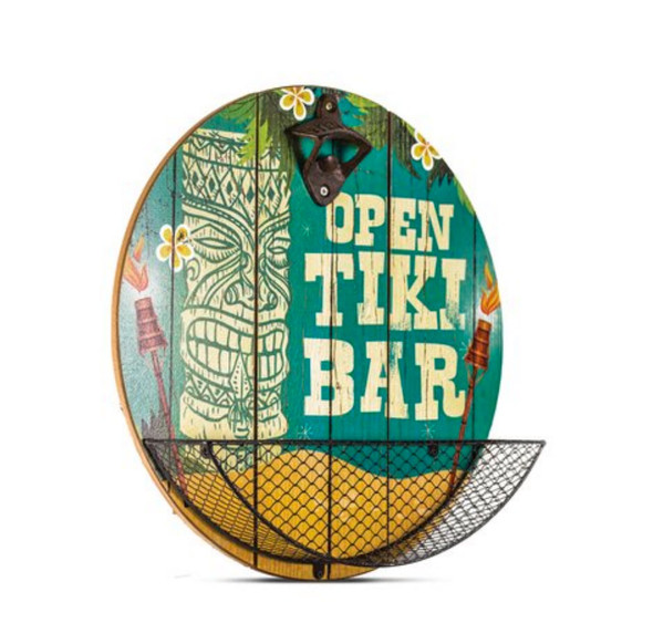 Tiki Bar Bottle Cap Catcher