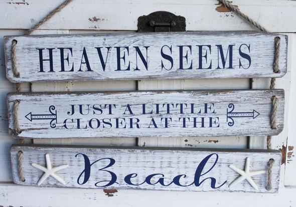 Heaven seems just a little closer at the beach.