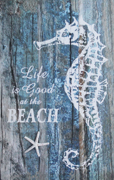 Life is Good at the Beach Seahorse Sign