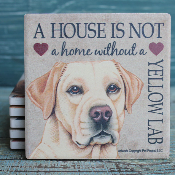 Yellow Lab Dog Coaster