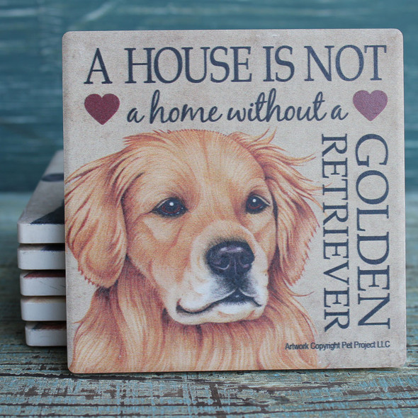 Golden Retriever Dog Coaster