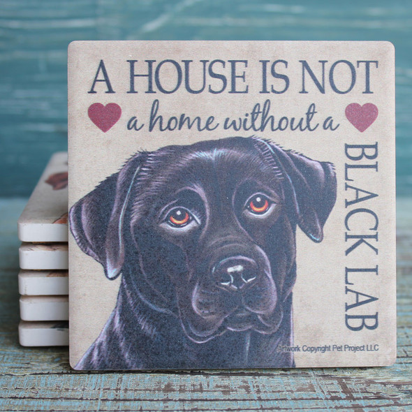 Black Lab Dog Coaster