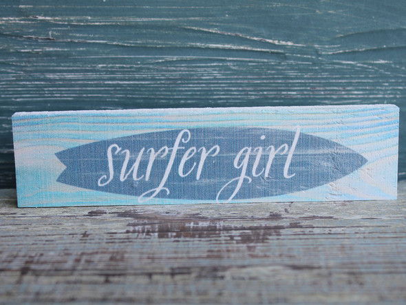 Surfer Girl Candy Bar Sign
