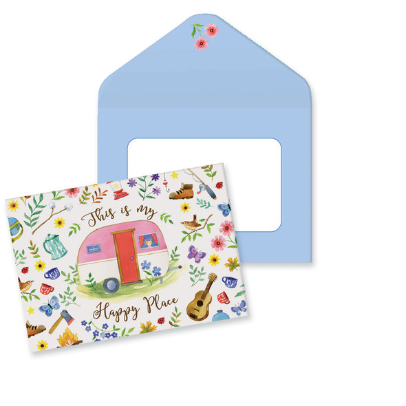 Happy Place Camper Note Cards