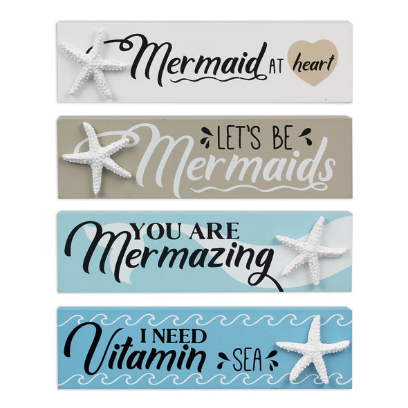Mermaid Mini Wood Block Signs