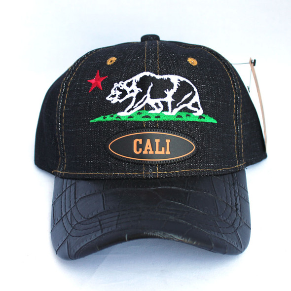 Black Denim Cali Bear Hat