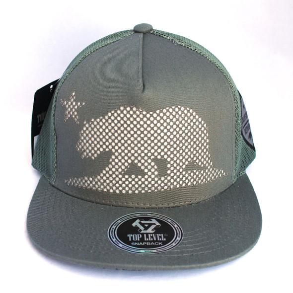 Dark Gray Mesh California Bear Hat
