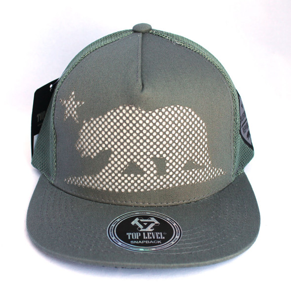 Dark Gray Mesh California Bear Hat