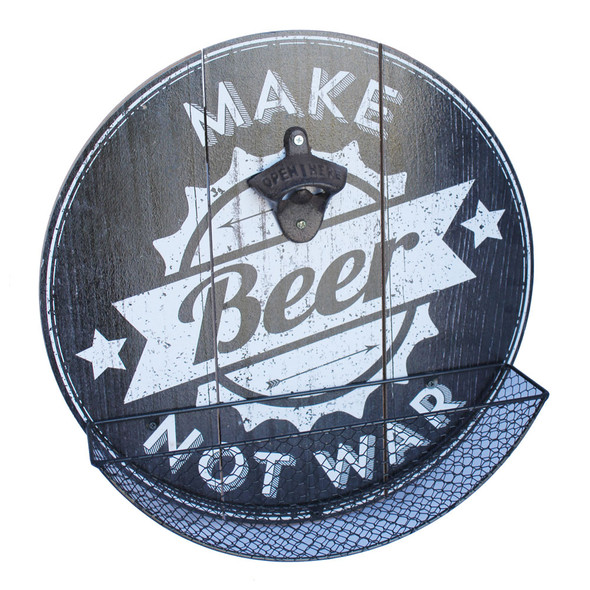 Make Beer Not War Cap Catcher