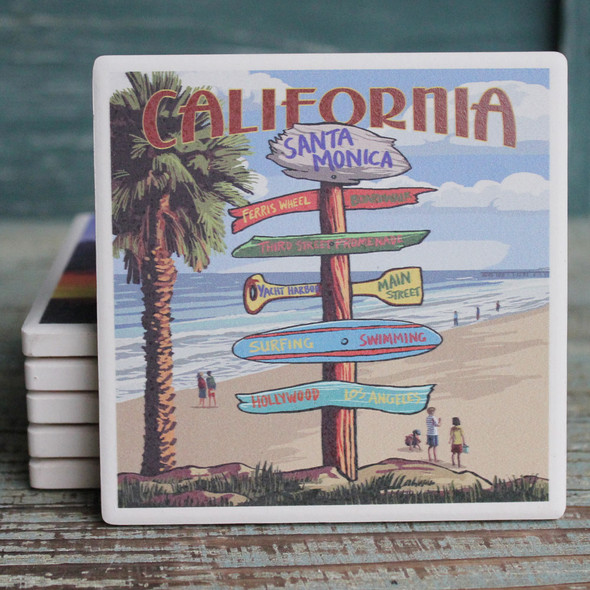 Santa Monica Destinations Coaster
