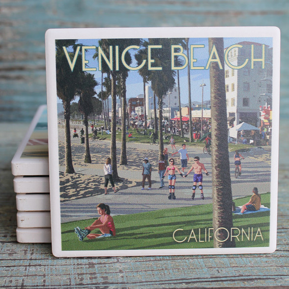Venice Beach Boardwalk Coaster