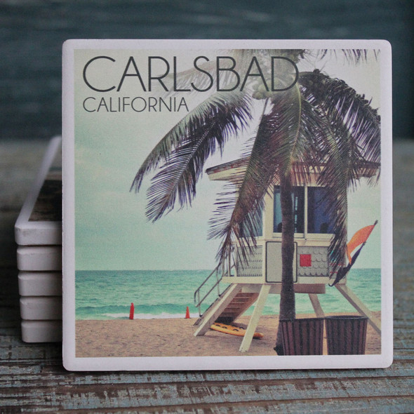 Carlsbad Lifeguard Shack Coaster