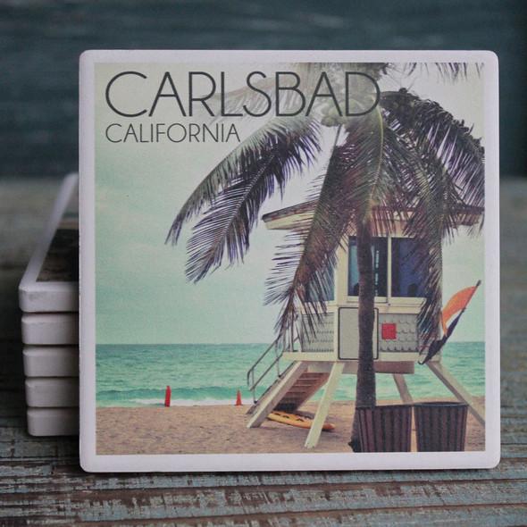 Carlsbad Lifeguard Shack Coaster