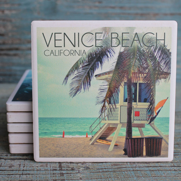Venice Beach Lifeguard Shack Coaster