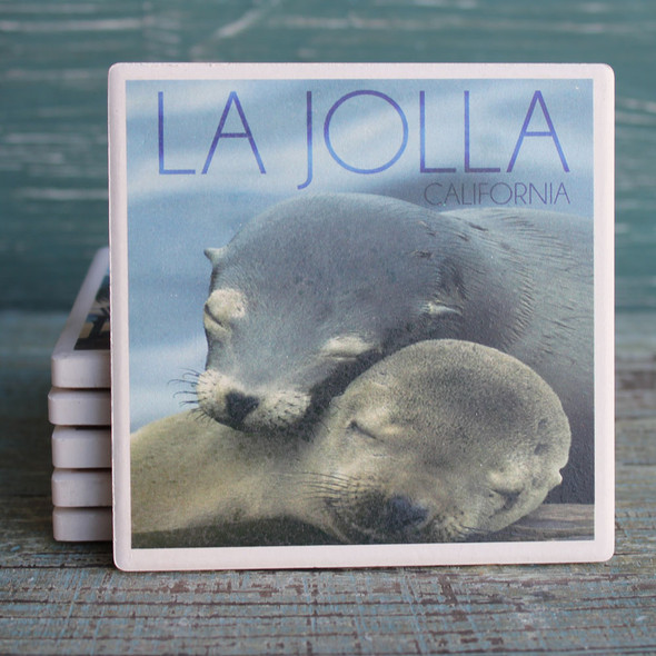 Sea Lions Cuddle La Jolla