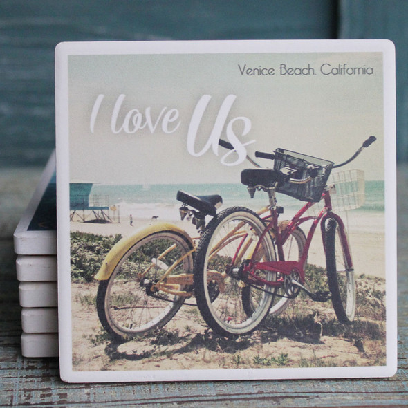 I Love Us Bikes Coaster