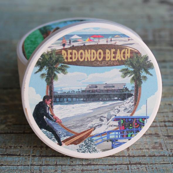 Redondo Beach Montage Car Coaster
