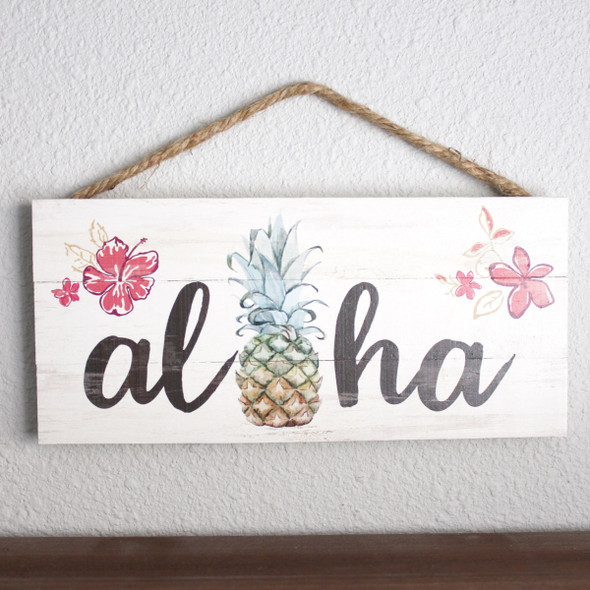 Aloha Pineapple Rope Sign