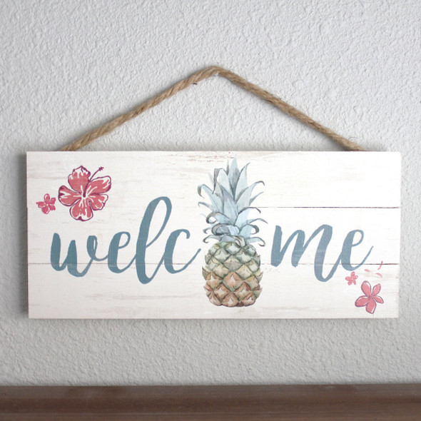 Welcome Pineapple Rope Sign