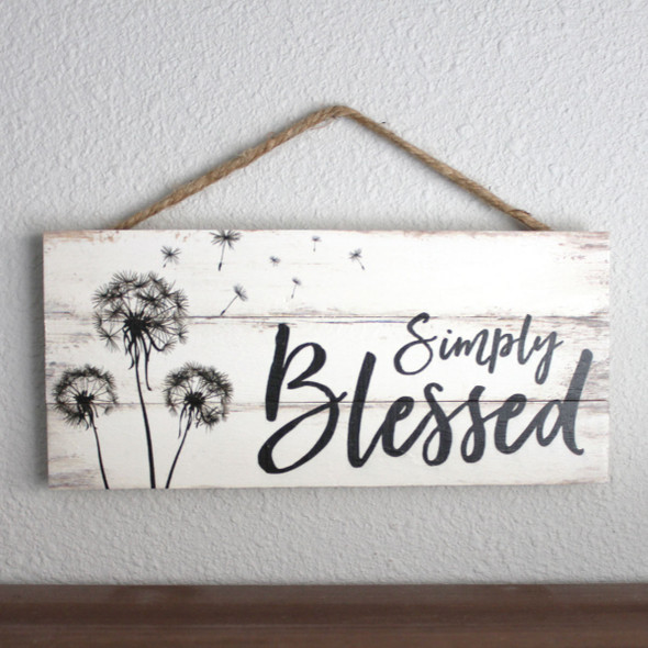 Simply Blessed Rope Sign