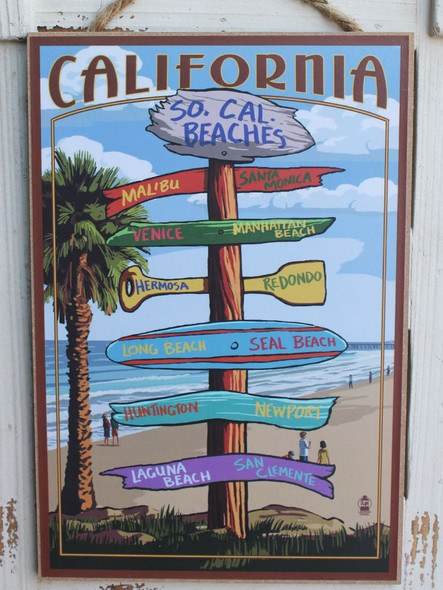 So Cal Beaches Destination Signs