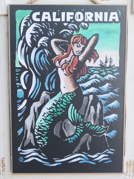 Mermaid Scratchboard