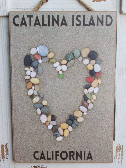 Stone Heart in the Sand - Catalina Island