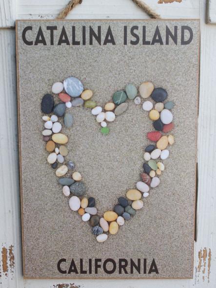 Stone Heart in the Sand - Catalina Island