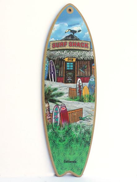Surf Shack CA Surfboard Sign