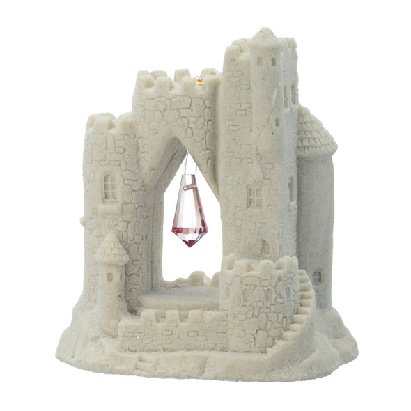 Beaded Sandcastle - White