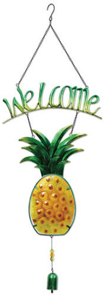 Metal Pineapple Welcome Sign