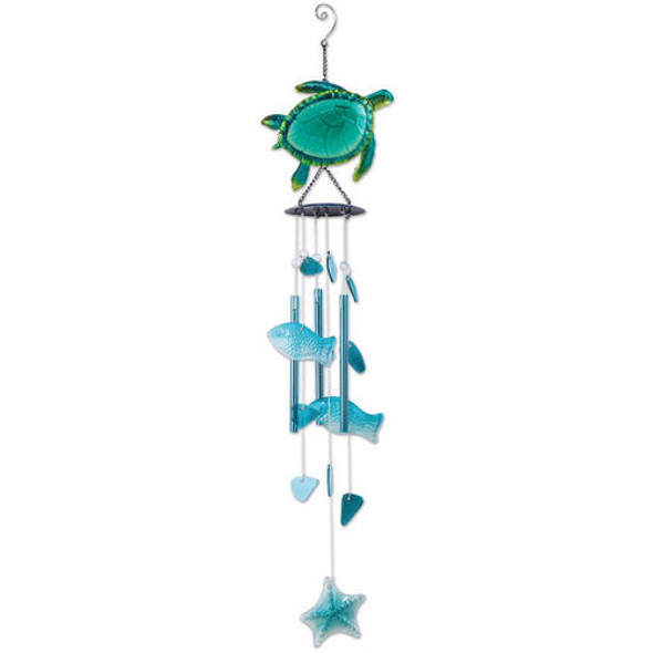 Sea Turtle Glass WIndchime